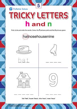 Пишемо правильно англійські літери № 5 (h та n)