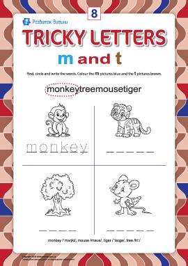 Пишемо правильно англійські літери № 8 (m та t)