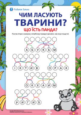 Вивчаємо світ тварин. Що їсть панда? (№1)