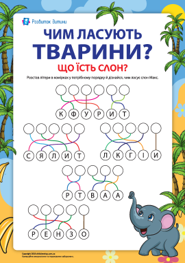 Вивчаємо світ тварин. Що їсть слон? (№5)