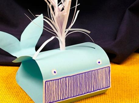 Паперовий кит: саморобка для дитячої творчості