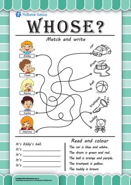 Вчимось відповідати на питання «Чий?» англійською мовою