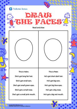 Намалюй обличчя дітей (англійською мовою)
