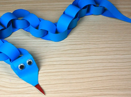 Паперова змійка — проста дитяча саморобка