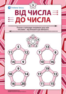 Від числа до числа №3: порівняння в межах 20
