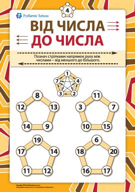 Від числа до числа №4: порівняння в межах 20