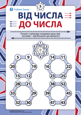 Від числа до числа №5: порівняння в межах 50
