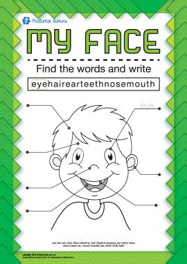 Опиши обличчя (англійською мовою)