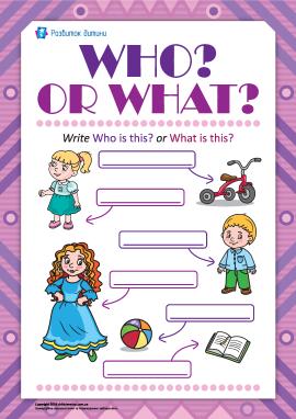 Розрізняємо What? і Who? (англійською мовою)