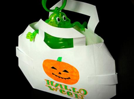 Як зробити пакунок для солодощів на Хелловін
