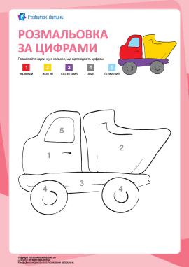 Розмальовка за цифрами: вантажівка