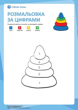 Розмальовка за цифрами: іграшка
