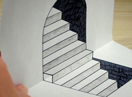 Графічна оптична ілюзія зі сходинками
