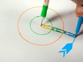 Як накреслити коло без циркуля? Візьміть скріпки!