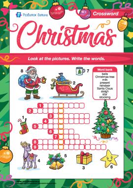 Кросворд англійською «Різдво»