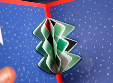 Новорічна листівка з ялинкою: pop-up проект