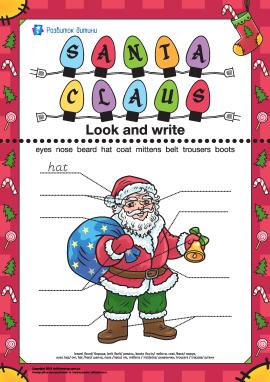 Опиши Санта Клауса (англійською мовою)
