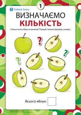 Визначаємо кількість: рахуємо яблука
