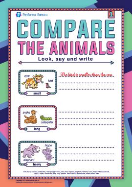Порівнюємо тварин (англійська мова)