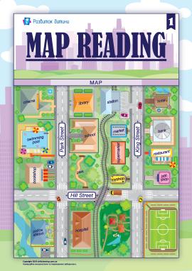 Орієнтуємось по мапі (англійська мова)