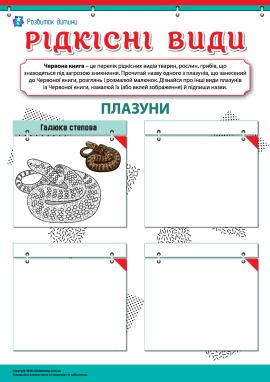 Вивчаємо рідкісні види плазунів