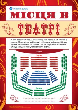 Рахуємо місця в театрі, обираємо бажане