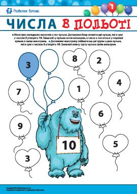 Невідомі доданки №1: сума 10