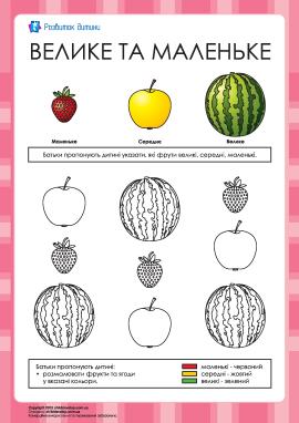 Кавун, яблуко і полуниця — що більше?