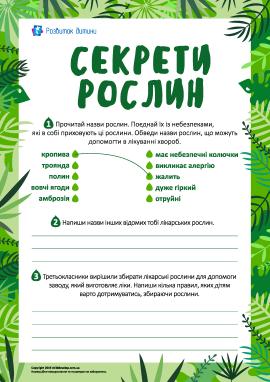 Розкриваємо секрети рослин