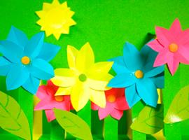Квітуче поле — проста 3D-аплікація для дітей