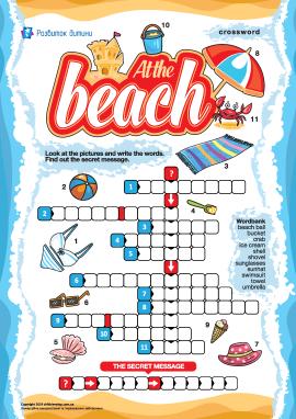 Кросворд англійською «На пляжі»