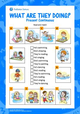 Вивчаємо Present Continuous (англійська мова)