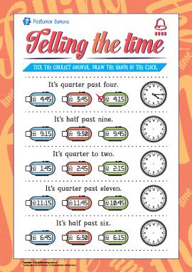 Учимося визначати час (англійська мова)