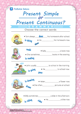 Розрізняємо Present Simple і Present Continuous (англійська мова)