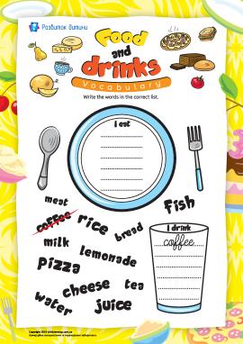 Вивчаємо назви їжі й напоїв (англійська мова)