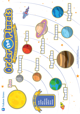 Вивчаємо порядок планет у Сонячній системі (англійська мова)