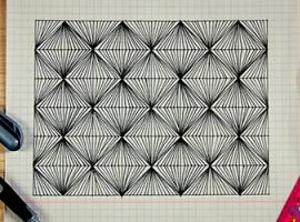 Зентангл — абстракція, яку приємно малювати