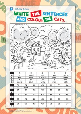 Розмальовуємо котів (англійська мова)