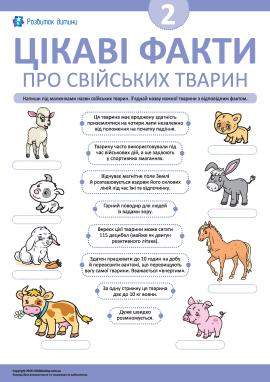 Дізнаємося цікаві факти про свійських ссавців