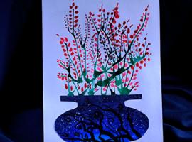 Картина з аквареллю: дуємо на краплю