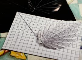 Елегантний конвертик з листочком-орігамі