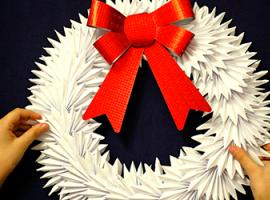 Різдвяний віночок із паперу своїми руками