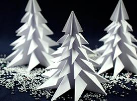 3-D ялинка із паперу: проект на п'ять хвилин