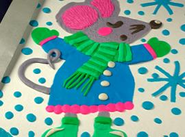 Миша з пластиліну: створіть зимове панно
