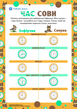 Час сови: позначаємо час на годиннику