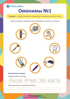 Омоніми №1 (російська мова)