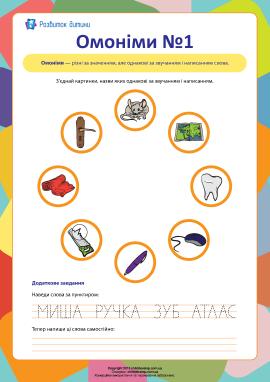 Омоніми №1 (українська мова)