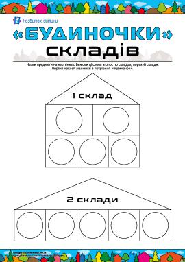 «Будиночки» складів: поділ слова на склади