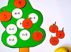 Яблуня: арифметична гра на віднімання