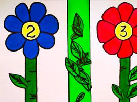 Весняні квіти — арифметична гра для найменших